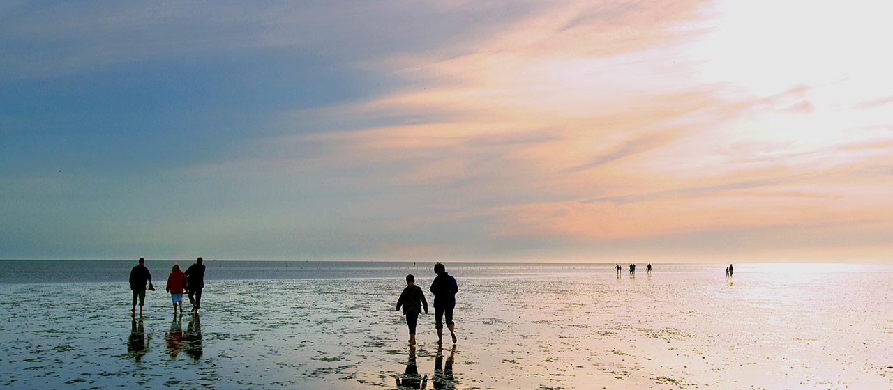 Das Wattenmeer bei Büsum